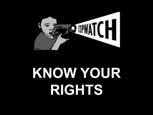 Know Your Rights Outline (powerpoint)