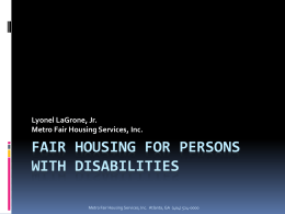 Fair Housing Responsibilities for Supportive Housing Managers