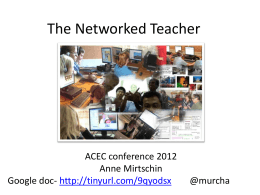 The Networked Teacher upload