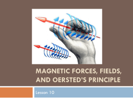 Magnetic Forces, Fields, and Oersted`s Principle