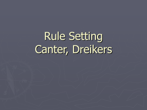Rule Setting Canter, Dreikers