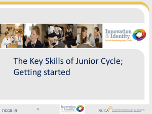The key to unlocking the learning is key skills
