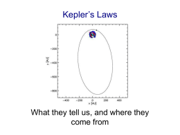 Kepler`s Laws - University of Iowa Astronomy and Astrophysics