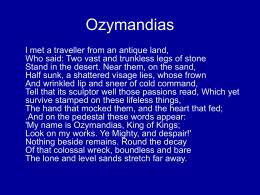 what is the irony in ozymandias