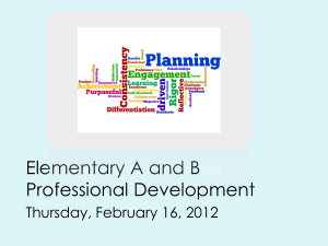 Elementary A and B Professional Development