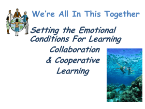 PPT slides - The Center for Effective Learning