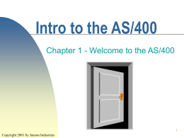 rev Chapter 1 - Welcome to the as400