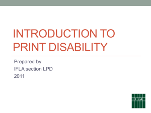Introducing Print Disability