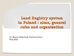 Land Registry in Poland by Ms. Rekawek