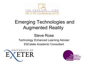 C1 Emerging technologies and Augmented Reality