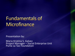 Fundamentals of Microfinance