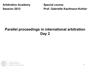2nd part - Arbitration Academy