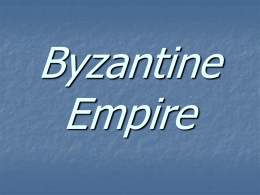 Byzantine Empire - CarpenterInternational