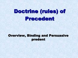 Precedent Powerpoint one