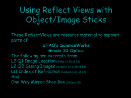 Using Reflect Views with Object/Image Sticks