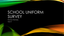 School uniform Survey