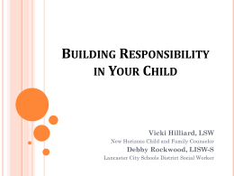 Building Responsibility in Your Child