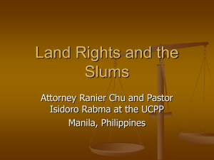 Land Rights and the Slums