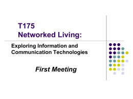 T175 Networked Living: