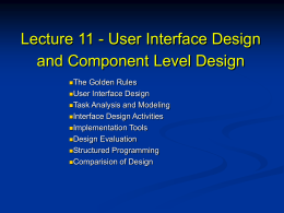Lecture11 - User Interface Design
