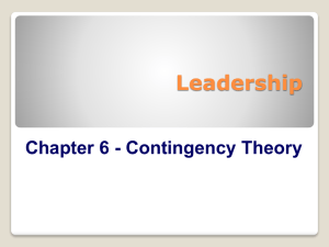 Chapter 6 - Contingency