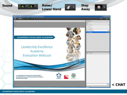 Webinar 4 Student Persistence - Leadership Excellence Academy