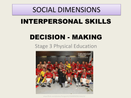 Social Dimensions - PE Studies Revision Seminars