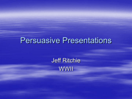 Presentations - Personal Pages