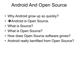 Android And Open Source - lzy-s-prct