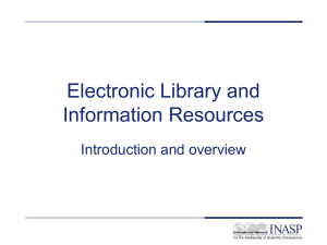 Electronic Journals and Electronic Resources Library