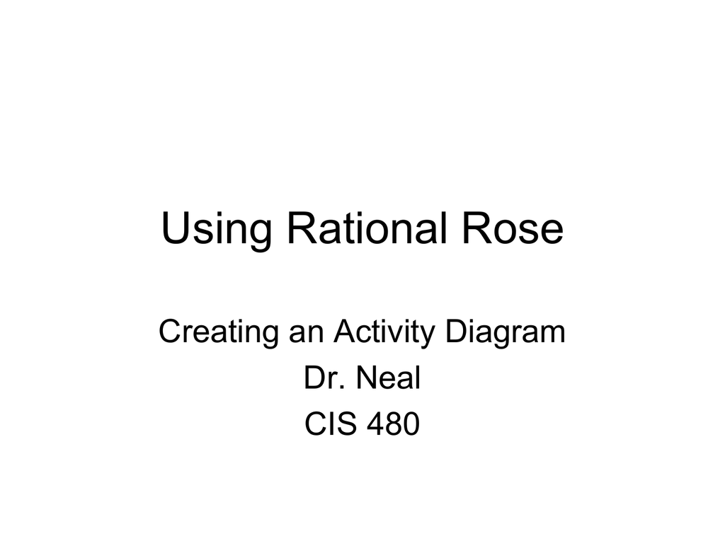 Creating an activity diagram in rose ccuart Choice Image