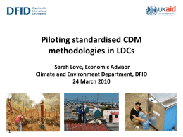 DFID and Low Carbon Development