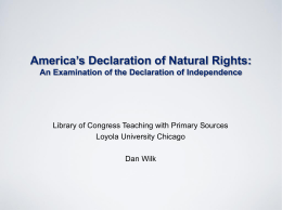 America`s Declaration of Natural Rights (PowerPoint)