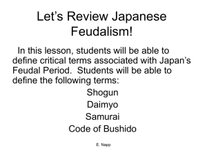 Let`s Review Japanese Feudalism!