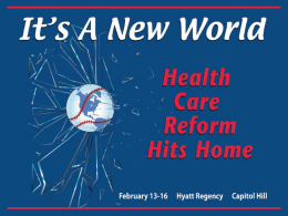 Preview of NAHU`s New Health Reform Certification Course: Part Two