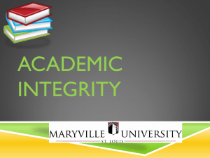 Academic Integrity - Maryville University
