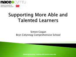 NACE: Supporting More Able and Talented Learners