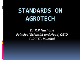 Standards on Agrotech
