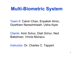 Multi-Biometric System