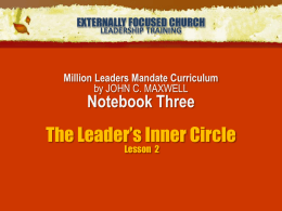 The Leader`s Inner Circle