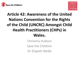 Awareness of the United Nations Convention for Rights of the Child