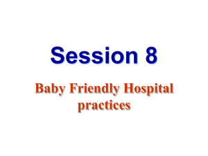 Baby Friendly Hospital Initiatives
