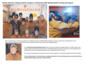 Winkler Red River College Students Complete 15 Week Basic MIG