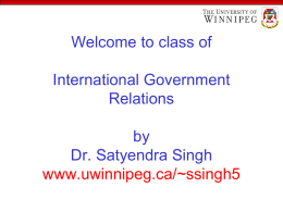 International Government Relations