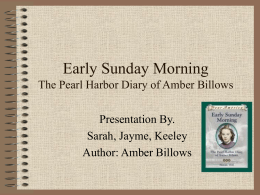 Early Sunday Morning The Pearl Harbor Diary of Amber
