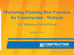 Marketing Planning - The Construction Marketing Association