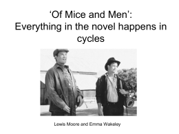 george of mice and men essay