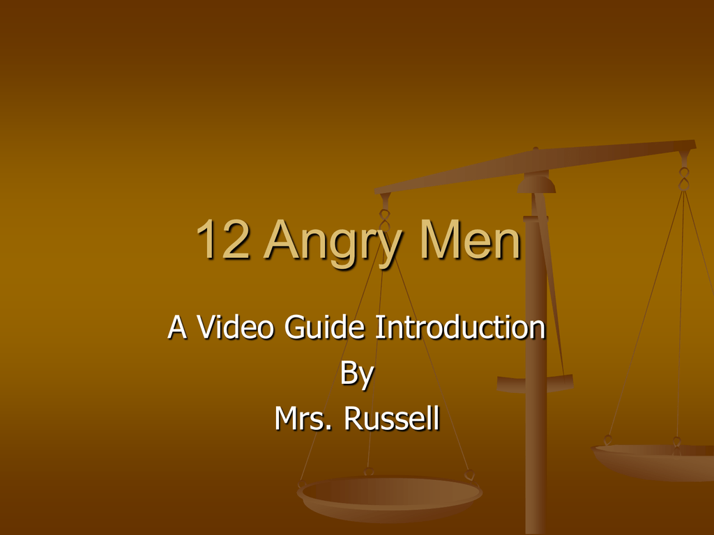 angry men mrs russell online