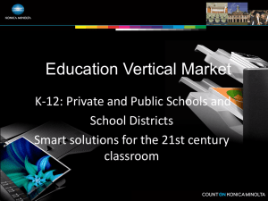 Education Vertical K-12 Presentation