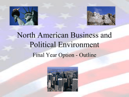 North American Business and Political Environment